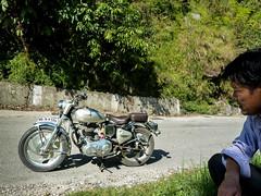 . (S_Artur_M) Tags: travel people india west lumix panasonic motorbike bengal darjeeling indien reise motorrad royalenfield westbengalen tz10