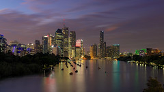 After the sunset (Emanuel Papamanolis) Tags: skyline outdoor brisbanepanorama water city architecture waterfront light river buildings reflections challengegamewinner