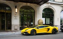 Prince de Galles. (misterokz) Tags: paris car photography automobile uae voiture exotic arab lamborghini supercar sv spotting qatar lambo carspotting superveloce aventador misterokz