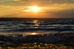 Waves (heyjudephoto) Tags: sunset lake ny newyork water closeup evening waves low upstate fingerlakes cayugalake