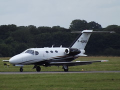 F-HAHA Cessna Citation Mustang 510 (Aircaft @ Gloucestershire Airport By James) Tags: james airport oxford mustang 510 cessna lloyds citation bizjet egtk fhaha