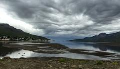 In Faskrudsfjordur (*Jonina*) Tags: iceland sland faskrudsfjordur fskrsfjrur evening sdegi sky himinn clouds sk village orp iphone6 jnnagurnskarsdttir