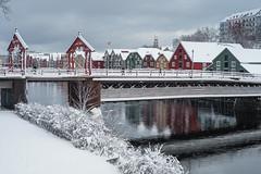 "Gamle Bybro (""Old village bridge"") (Helena Normark) Tags: snow winter gamlebybro bybroa bakklandet trondheim srtrndelag norway norge sonyalpha7 a7 voigtlnder cv5015 nokton5015 nokton50mmf15"