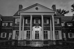 Hayfield House at Dusk, 2016.07.31 (Aaron Glenn Campbell) Tags: psuwb pennstate wilkesbarre campus architecture building hayfieldhouse lehman backmountain route118 medic51 luzernecounty nepa pennsylvania bw blackandwhite evening outdoors rural country dramatic moody hdr 2ev macphun aurorahdrpro sony a6000 ilce6000 sonyalpha6000 mirrorless sigma 19mmf28exdn primelens emount