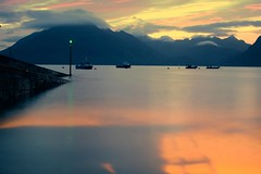 one from jake (plot19) Tags: isle skye scotland sunset sea sunrise uk britain landscape seaside sky elgol boat boats mountains mood nikon north northwest northern plot19 photography jake jacob
