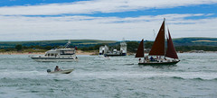 Sandbanks ferry, Poole Harbour, Dorset, July 2016 (sbally1) Tags: bournemouth pier wildflowers summer dorset england sandy seaside greatbritain sandbanks ferry poole boats