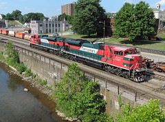 FXE 4087 and 4063 (Trains & Trails) Tags: fxe ferromex emd widecab sd70ace railroad train engine locomotive diesel transporation pennsylvania fayetttecounty connellsville q29927 4087 4063