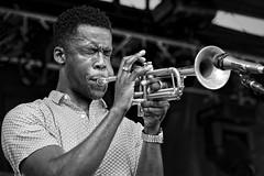 Trumpet Face (Jim-Mooney) Tags: bw black white blackandwhite blackwhite mono monochrome monotone photography people portrait music musicians fuji xt1 fujinon 50140mm