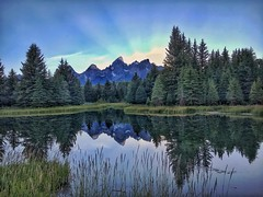 Late Evening at Schwabacher Landing (Ronnie Wiggin) Tags: aneveningatschwabacherlanding moosewyoming jacksonwyoming tetons grandtetons iphonephotography rwigginphotos jacksonhole sunset schwabacher gtnp grandtetonnationalpark landscapes mountains beavers pond