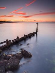 Sluice Sunset (Squareburn) Tags: sunset seatonsluice northumberland coast groyne longexposure seascape