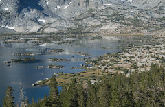Climbing Away from the Lake 7 (deanwampler) Tags: sierras bannerpeak thousandislandlake anseladamswilderness jmt johnmuirtrail