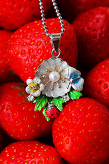 sunlight (danilina_ekaterina2) Tags: photo decoration strawberry macro canon 60d medallion sunlight