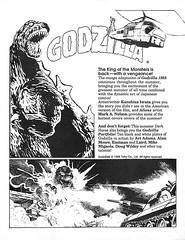1988 Dark Horse Comics Godzilla 1985 ad by Kazuhisa Iwata (Tom Simpson) Tags: godzilla comics illustration gojira kazuhisaiwata comicbook ad ads advertising advertisement vintage vintageads 1988