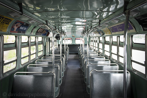 Vintage bus interior