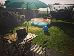 My office for the day. The pool is officially for when the kids get home from school, but I might need to sit in it myself if it gets any warmer. (galvogalvo) Tags: my office for day the pool is officially when kids get home from school but i might need sit it myself if gets any warmer instagram