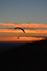 DSC_1780 (justinecharrel) Tags: sunset coucher de soleil auvergne france puydedome volcan montagne nature landscape paysage colors orange red blue sky clouds sun parapente parasailing nikon nikond3200 out