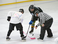 Face Off With Cancer #IFACEOFF4 - Puck Off Cancer! @ South Puck 1 (mark6mauno) Tags: steveappley steve appley referee hockey ifaceoff4 iceoplex nikkor 200400mmf4gvrii nikond4 nikon d4