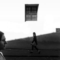 Down the street (Edgaras Vaicikevicius) Tags: streetphotography street streettogs streetlife blackandwhite blackandwhitephotography edgarasvaicikevicius