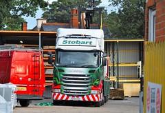Eddie Stobart 'Pam Joyce' (stavioni) Tags: eddie stobart truck traier lorry esl pam joyce po66ugu h2520 scania r450 mol mechanical off load brick crane
