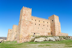 Castillo Siguenza 1 (davidherraezcalzada) Tags: province national siguenza spain mancha fortress castle castile guadalajara landmark hotel ancient architecture tower building landscape old stone history europe sky tourism travel medieval scenery blue destination wall king historic palace summer attraction defensive house mansion monument architect