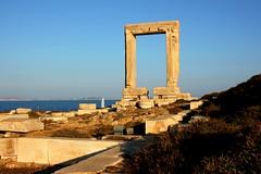 Apollo Temple's entrance - Portara (ika_pol) Tags: naxos greece cyclades cycladesislands greekislands morning port geotagged mediterranean naxostown aegeansea sea aegean palatia protara apollo apollotemple day sunny fair