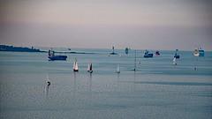 stille Frde (FrauN.ausD.) Tags: kiel ostsee frde fjord leuchtturm lighthouse baltic sea ships boats schiff segelboot sonnenuntergang sunset deutschland germany