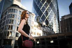 Street Fashion Shoot (ArnabKGhosal) Tags: gherkin streetfashion streetstyle fashionblog arnabkghosal portraits redhead london citygirl girlinthecity