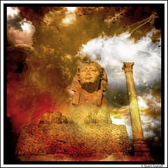 (2352) La Columna de Pompeyo (Quim Granell) Tags: alexandria egypt egipte egipto art retoc retoque retouch textures golden olympus quimg quimgranell joaquimgranell afcastelló specialtouch obresdart