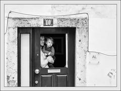 Man and Child. (kitchou1 Thanx 4 UR Visits Coms+Faves.) Tags: architecture autumn bw cityscape europe exterior landscape nb people season street world saison