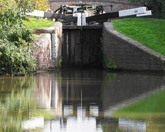 Canal Lock number 44 (stephen.r.clements) Tags: lock canal worcester gygo reflection gate water wbc tardebigge