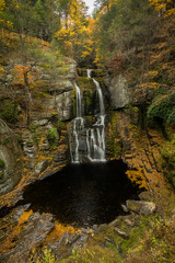 Falls in Fall - 2 (iShootPics) Tags: clear autumn walter colorful landscape waterfall outdoors bushkills sel1635z reflections colors pretty nature fall sonya7r foliage scenic
