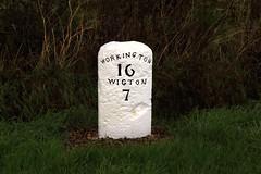 Milestone at Houserigg, Cumbria. (Marra Man) Tags: milestone cumbria houserigg turnpikeroad