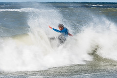 SKA_0442-3 (lenseviews.com) Tags: sea surfer sport motion long exposure move sports paddlesurf wave denmark travel wanderlust bunkers