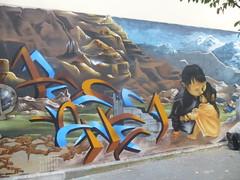 Caligr : les enfants du Npal (octobre 2016) (Archi & Philou) Tags: caligr npal enfants children murpeint paintedwall streetart paris11 wip workinprogress