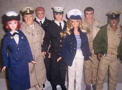 Army-Navy Group (larry_boy17) Tags: woman game altered trek wonder star james photo football 60s uniform doll dolls action ooak coat group dean navy ken barbie sailors obsession diane citrus roberts nautical coats usnavy figures officers repaint bmr