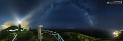 360 degrees starry sky (dieLeuchtturms) Tags: panorama lighthouse portugal night europa europe nacht leuchtturm azores 360 starsky aores atlantik milkyway sternschnuppe shootingstar graciosa azoren sternenhimmel perseiden 3x1 carapacho starrysky perseides milchstrase ilhagraciosa