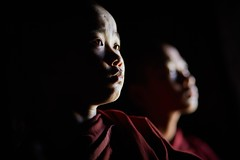 0G3B9763 - Novice monks at the Shwe Yan Pyay Monastery (Eddie HBH) Tags: portrait lowlight monks glowing myanmar inle