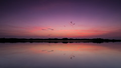 Dune. (dasanes77) Tags: longexposure blue red lake seascape water valencia clouds sunrise reflections landscape dawn dunes memories calm minimalistic mornig saler magiclight canonef24105mmf4lisusm canoneos6d albuferaofvalencia