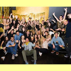 A touch of GOLD (domit) Tags: barcelona party gold group picture shoko eastpak