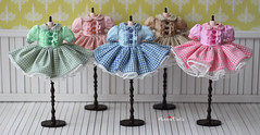 Anniedollz Handmade Blythe Plaid One Piece Dress 5 color