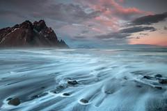 Dusk at Stokksnes (Sophie Carr Photography) Tags: sunset mountain water iceland long exposure dusk hofn stokksnes southeasticeland vesturhorn