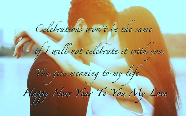Happy New Year To My Love Couple Quotes HD Wallpaper - Stylish HD Wallpapers