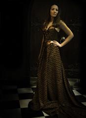 dress (brianarmour) Tags: rachael castle beauty bronze model fabric armor copper armour breastplate