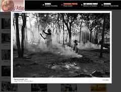 Yes !!! (Paysage du temps) Tags: africa woman leaves fire photo child femme contest exposition togo lille concours enfant feu feuilles afrique fondation 2015 tomegb europatlas