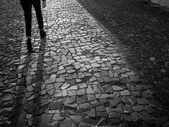 Crossing puzzle. (josaraujo) Tags: bw portugal downtown shadows lisboa lisbon olympus puzzle citycenter omd em10 mzuiko17mmf18