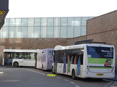 Libertybus trio (Coco the Jerzee Busman) Tags: uk islands coach pointer nimbus ct solo jersey plus alexander dennis sr dart channel caetano enviro optare plaxton libertybus