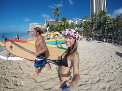 Weekend in Hawaii (BOMBTWINZ) Tags: sunset plane hawaii twins paradise surf waikiki oahu plumeria paddle woody surfing lei bikini longboard diamondhead tandem sup aloha tropics twinkies haku bathers 808 paddleboard hakulei gopro standuppaddle gopole kaikini kaikinibikinis