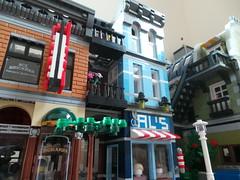 Lime Street (rh1985moc) Tags: city skyscraper lego modernism clocktower twintowers metropolis wtc gotham newgotham