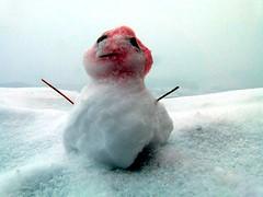 Kleiner Schneemann (dorissi) Tags: winter germany deutschland kleiner schneemann roter kopf 2015 burghohenneuffen