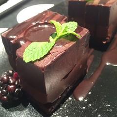 Complimentary hotel birthday cake.